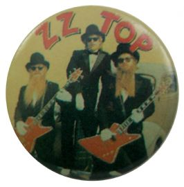 ZZ Top - 'Group Black Suits' Button Badge